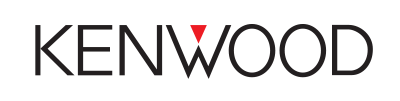Logo of Kenwood with black writing and a white background